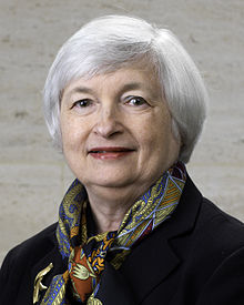 Janet Yellen Fed Portrait