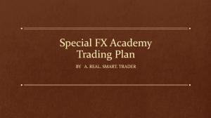 """Book cover """"SFXA Trading Plan"""""""